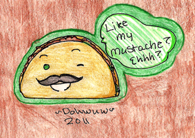 Art Trade: Taco Mustache by R41NBOWirony