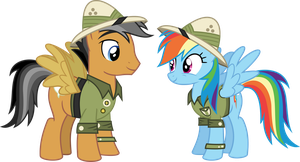 Quibble Pants and Rainbow Dash by Gebros