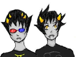 Sollux and Karkat by TomatoLove