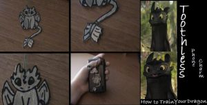 Toothless Phone Charm - HTTYD by Eva49