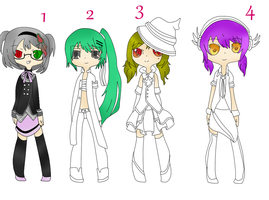 Adoptables Set One! (4/4 OPEN) by Moenessia