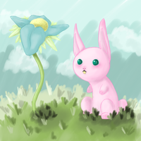 cotton candy bunny by harecandy