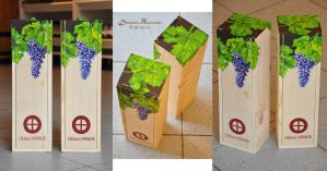 Painted wine box i by dh6art