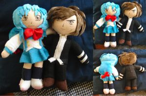 Kaname and Sousuke Plushies by dolphinwing