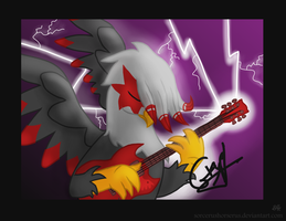Hard Rock Griffon by SorcerusHorserus