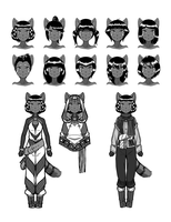 Pesha Character Concepts by mongrelmarie