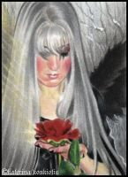 Winter's Rose-ACEO by Katerina-Art