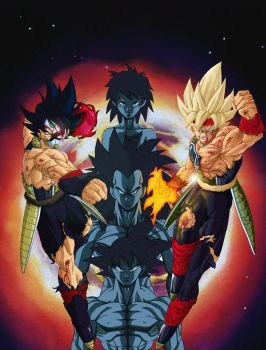 Bardock and his Family by NovaSayajinGoku