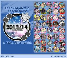 Winter 2013-14 Anime Icons + Fall Leftovers by LunaeMaster