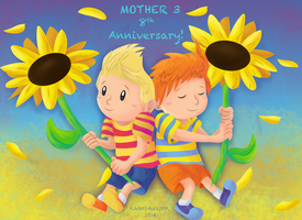 Mother 3 8th Anniversary! by Kosmotiel