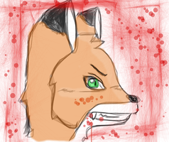 Sketch: fox murder by RikuBlindFox