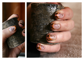 Nail Art: Orange Border by ginkgografix