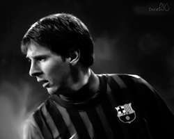 Messi Portrait re-touch by TAREK10