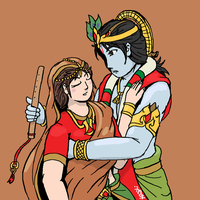 Hug me please Lord Krishna by VachalenXEON