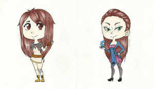 WoE Chibis - Anate and Nadd by Nadalien