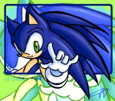 Old art - Sonic by CloudshadeZer0