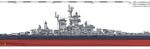 Constitution-class Battle Cruiser (1945) by ijnfleetadmiral