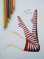 Striped Stockings by SongYong