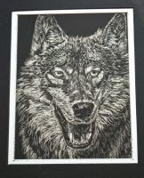 Dances with Wolves_Silver Scratchboard by alyssvisuals