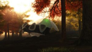 UFO in the Woods by Chrisofedf