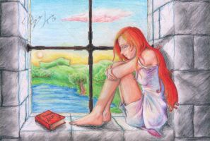 Ginny at the Window by fafadibelo