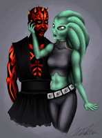 Maul and Kilindi by iSk8er95