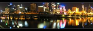 Melbourne - yarra panoramic by syncore