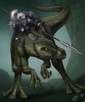 Lizard Rider by goatlord51