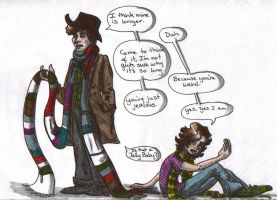 The Doctor and I colored by awesomewolf123