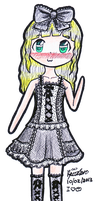 Kay wearing gothing dress~ by Xxi-luv-applesxX