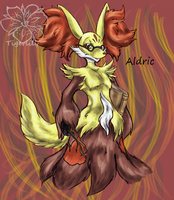 Aldric the delphox by tigersylveon