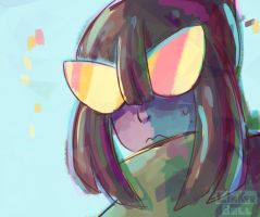 Painting Fluorite by Linkerbell