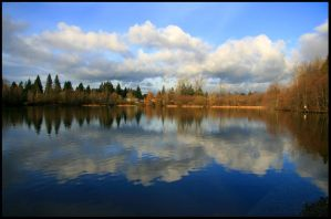 Lakes Reflection by bcdirector