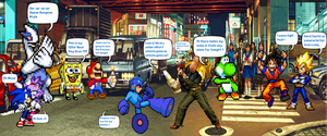 Megaman vs Drunk Ralf Jones in Public by DarkraDx