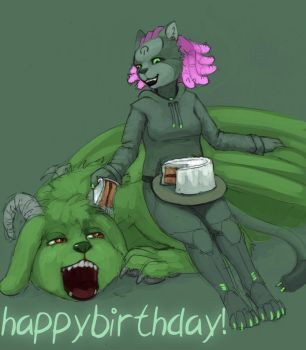Birthday Dragon by emikochan13