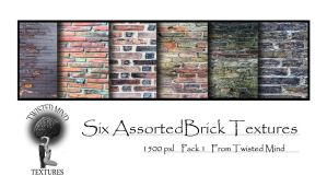 Twisted Mind Assorted Brick Textures Pack 1 by Textures-and-More
