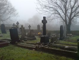 Foggy at the cemetery 18 by rudeturk