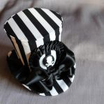 Striped Pirate Mini Top Hat by RagDolliesMadhouse