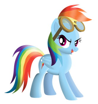 Rainbow with goggles by tgolyi