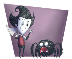 Don't Starve - Wilson and Spider by SrPelo
