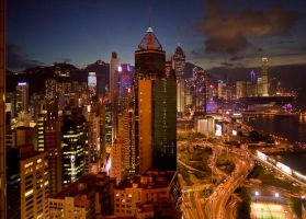 Hong Kong by night by posimage