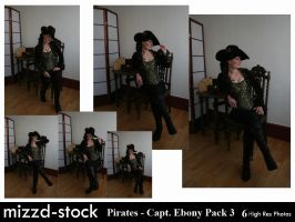 Pirates - Captain Ebony Black Pack 3 by mizzd-stock