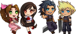 FFVII STICKERS by Cicre