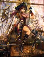 Pirate Girl by BramLeegwater