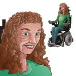 Older Handicapped Woman by GeekyWhiteGuy