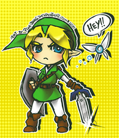 TLoZ OoT - Chibi Link by PinK-BanG