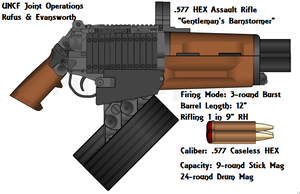 Rufus and Evansworth HEX Assault Rifle by daemon99
