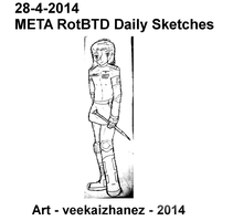 META RotBTD Daily Sketch 4-28 by veekaizhanez