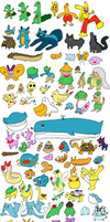 Third Generation Pokemon drawn from memory. by blayzeon