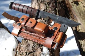 Ka-bar leather sheath by swietyleather